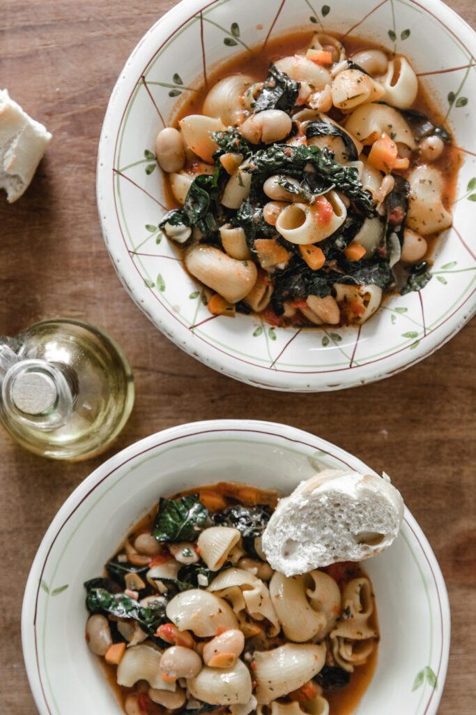 Minestrone with cavolo nero, beans and carrots