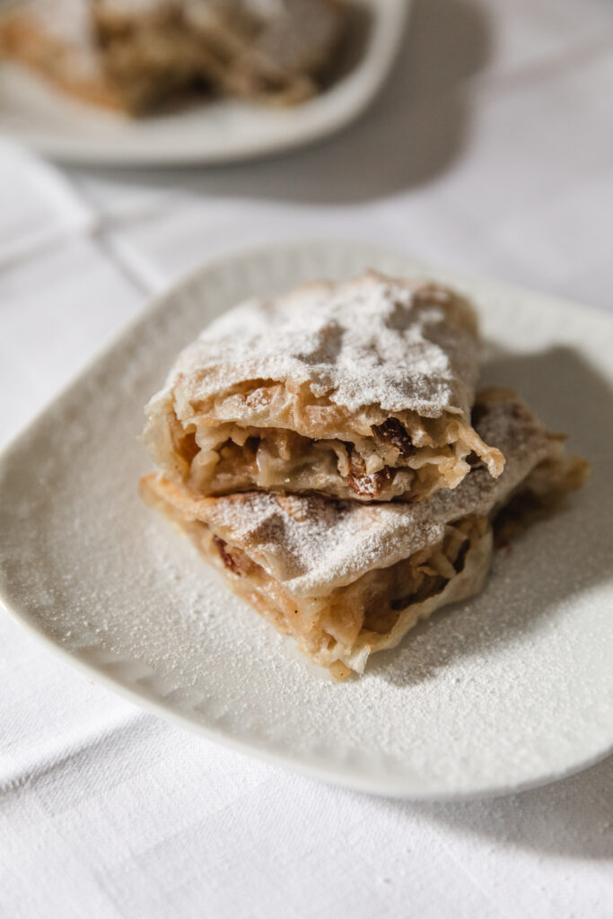 Strudel with cherries and apples – Serbian pie