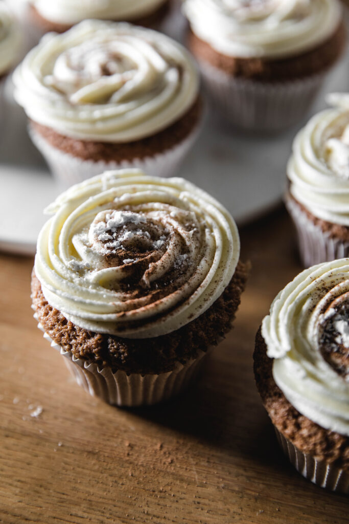 Spicy cupcakes with buttercream frosting