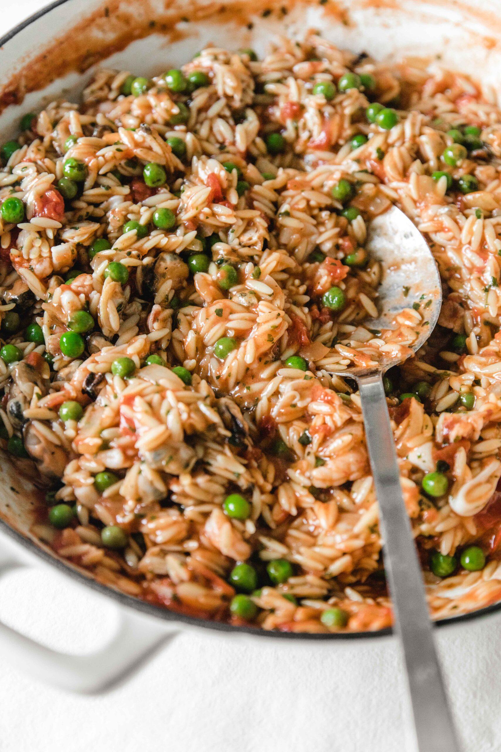 Orzo pasta recipe with shrimp