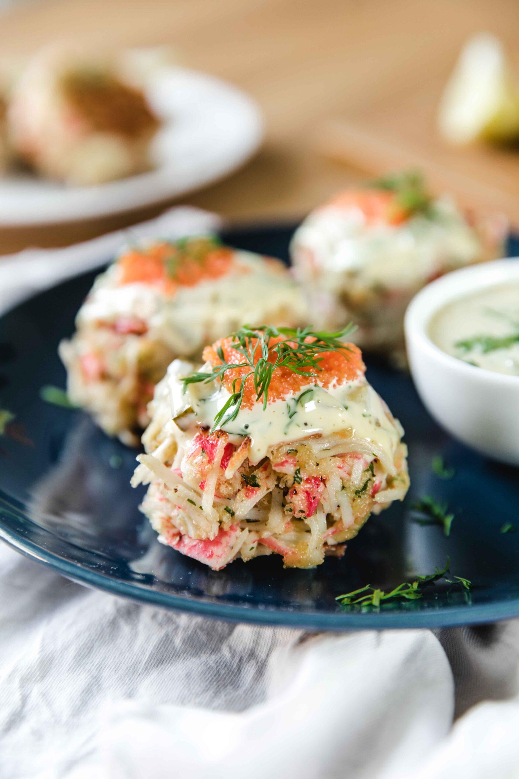 Crab cakes recipe with sauce