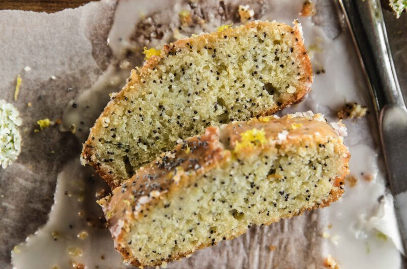 Lemon drizzle cake recipe easy with poppy seeds