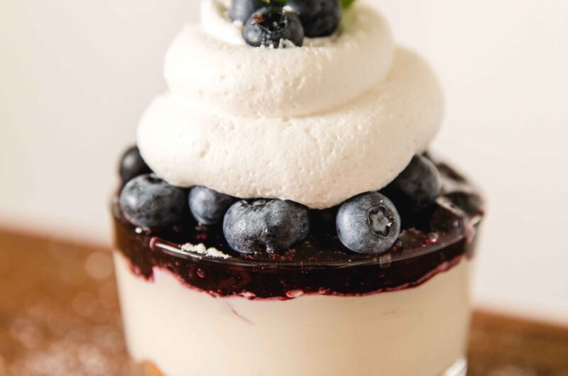 Blueberry Lemon Mini Cheesecake