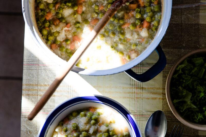 Green Pea Stew With Cauliflower