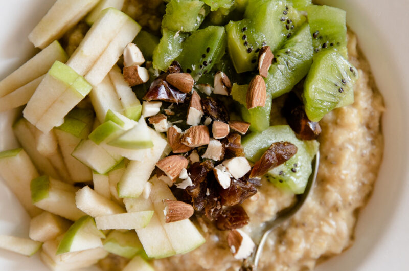 Healthy Porridge With Fruit And Nuts