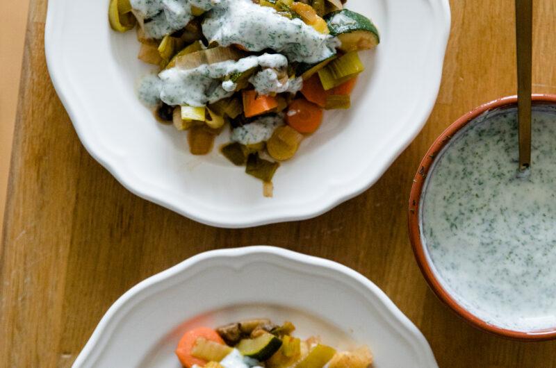 Vegetables With Yogurt Sauce